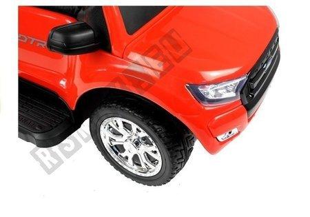 Rutschauto Ford Ranger Wildtrak mit Schiebestange Rot Ledersitz Auto
