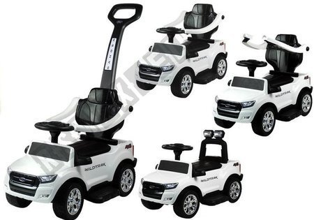Rutschauto Ford Ranger Wildtrak mit Schiebestange Weiß Ledersitz Lenkrad