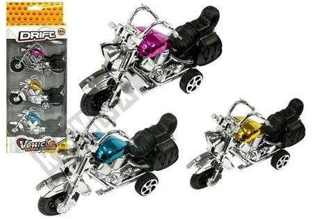Set Motorrad in Bewegung 3 Stück