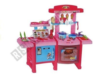 Spielküche Zubehör Set Töpfe Teller Besteck Lebensmittel Sound und Licht Küche