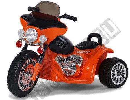 Super Elektromotorrad für Kinder Kindermotorrad Kinderfahrzeug Dreirad orange