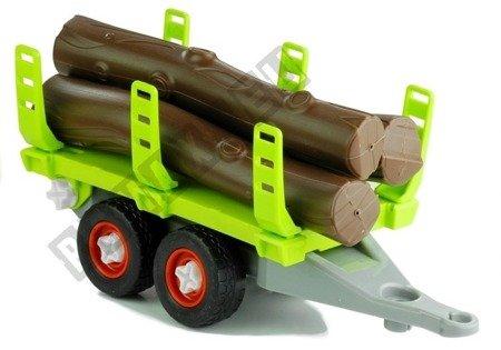 Traktor mit Anhänger Montage Holzbalken Set Werkzeuge Landmaschine