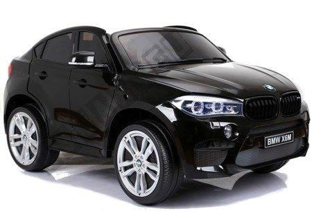 Auto Na Akumulator BMW X6M Czarne Dwuosobowy Fotel