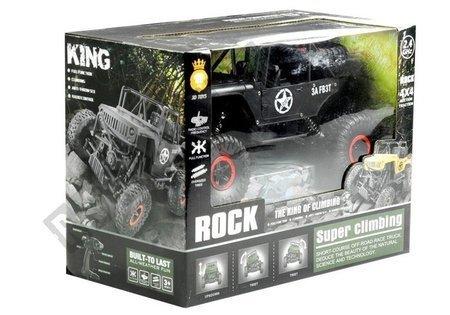 Auto Zdalnie Sterowane Jeep R/C 1:18 Czarne