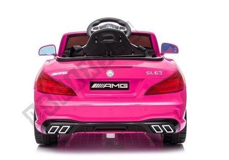 Auto na Akumulator Mercedes SL63 Różowy