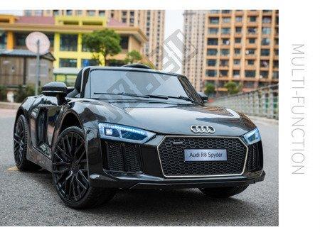 Auto na akumulator Audi R8 Spyder czarny lakier