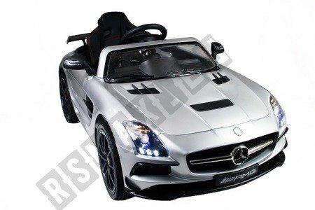 Auto na akumulator Mercedes SLS AMG szary lakierowany