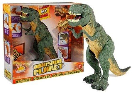 Dinozaur Tyranozaur Na Baterie Zielony Chodzi
