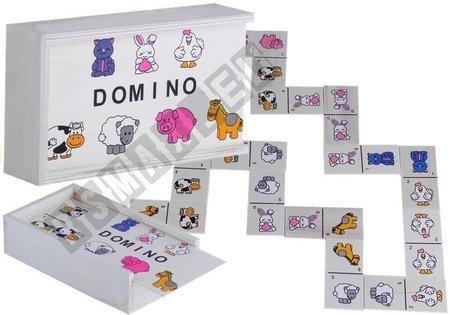 Domino Drewniane ze Zwierzątkami Gra Dla Dzieci