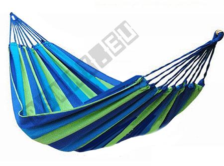 Hamak bez listwy 100x236 niebiesko-zielone pasy