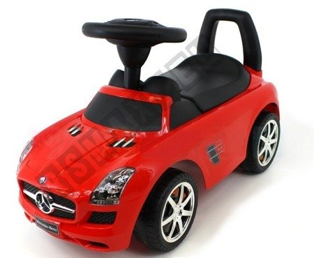 Jeździk MERCEDES SLS AMG pchacz chodzik czerwony