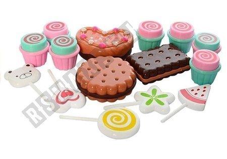 Kasa Fiskalna + Stragan Słodkości Candy shop 35 elementów