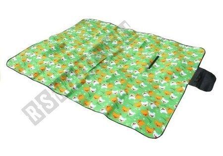 Koc Piknikowy Plazowy  150x180  W Misie Zielony