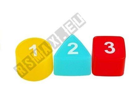 Kolorowa Przeplatanka 3w1 Sorter Muzyczne Autko