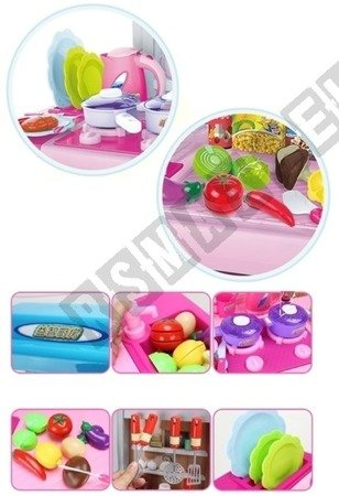 Kuchnia z panelem dotykowym + kran z wodą różowa