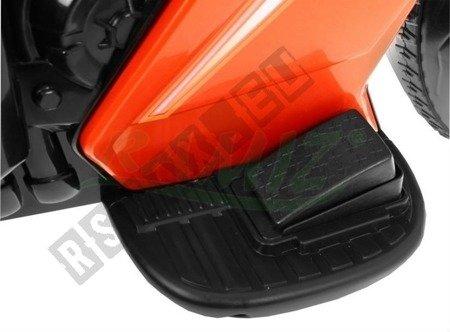 Pojazd Motorek Rowerek Pchaczyk 3w1 pomarańczowy
