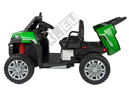 Pojazd na Akumulator A730-1 Zielono-Srebrny
