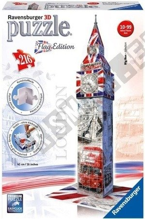 Puzzle 3D Big Ben Flag Edition 216 elementów