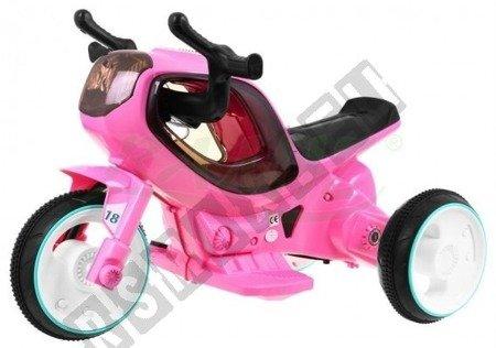 Super motorek Hornet dla dzieci na akumulator różowy