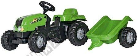Traktor na pedały Rolly Kid z przyczepą zielony !