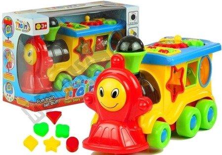 Wesoła Ciuchcia Zabawka Edukacyjna Kształty Kolory